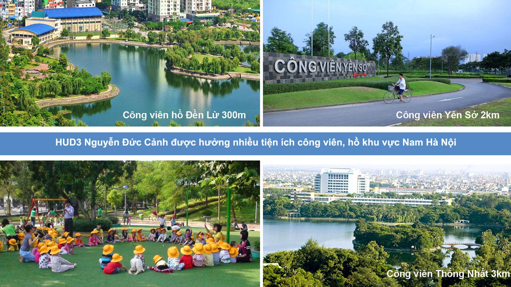 Tiện ích cây xanh HUD3 Nguyễn Đức Cảnh