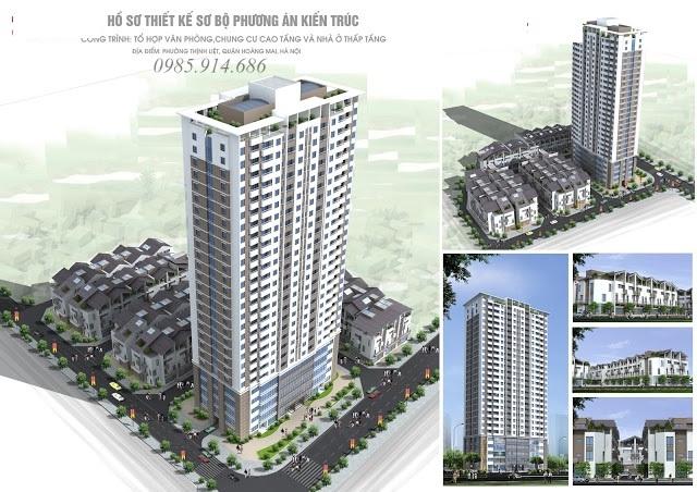 Thiết kế căn hộ số 10 chung cư Hồng Hà Tower 89 Thịnh Liệt