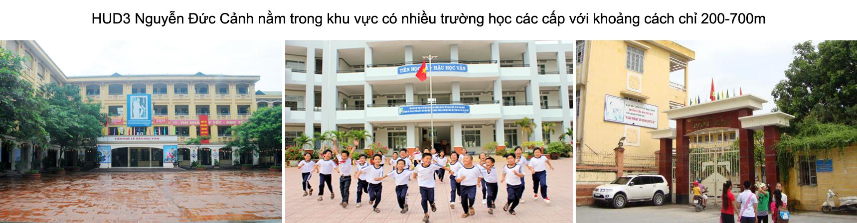 Trường học gần chung cư HUD3 Nguyễn Đức Cảnh