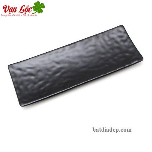 Bát đĩa nhựa phíp melamine đen lẩu nướng Thái Lan