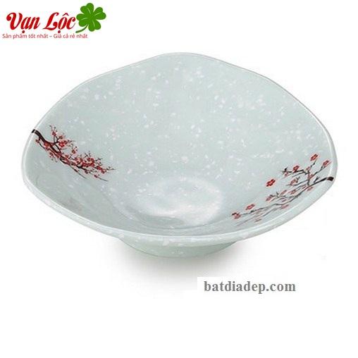 Bát đĩa melamine sứ ngọc đẹp rẻ Hàn Quốc