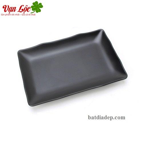 bát đĩa nhựa phíp đen melamine sứ ngọc đẹp