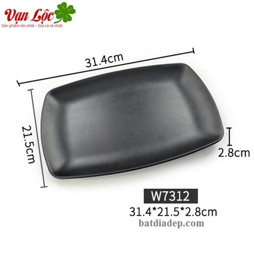 Bát đĩa nhựa phíp đen