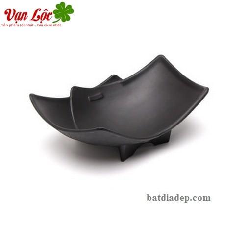 Bát đĩa sứ nhật hàn đen đep rẻ