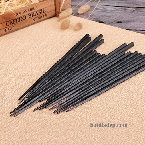 Thìa Muỗng Đũa melamine đen Nhật Bản Hàn Quốc