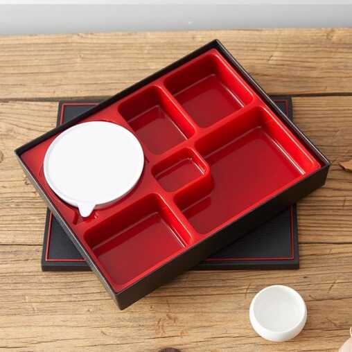 plastic bento lunch box with bowls japan