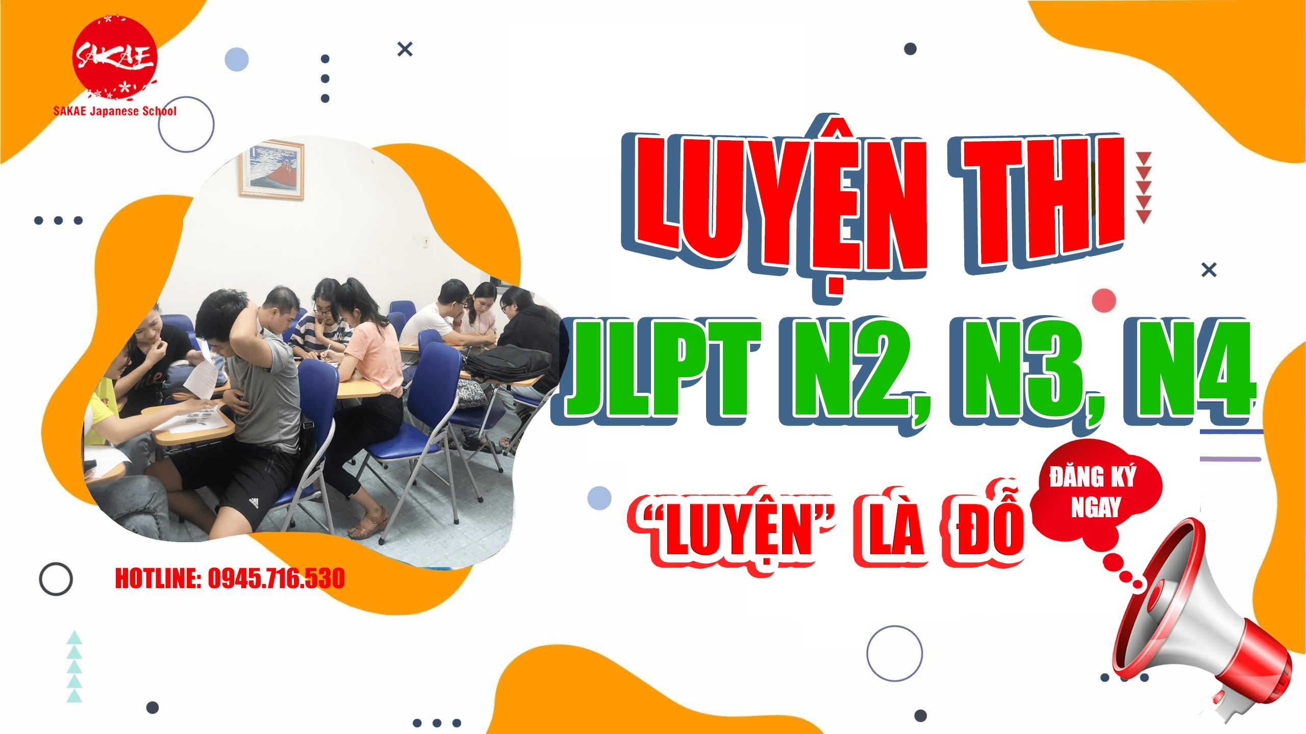 khóa học luyện thi tiếng Nhật N4 tại Sakae Thủ Đức
