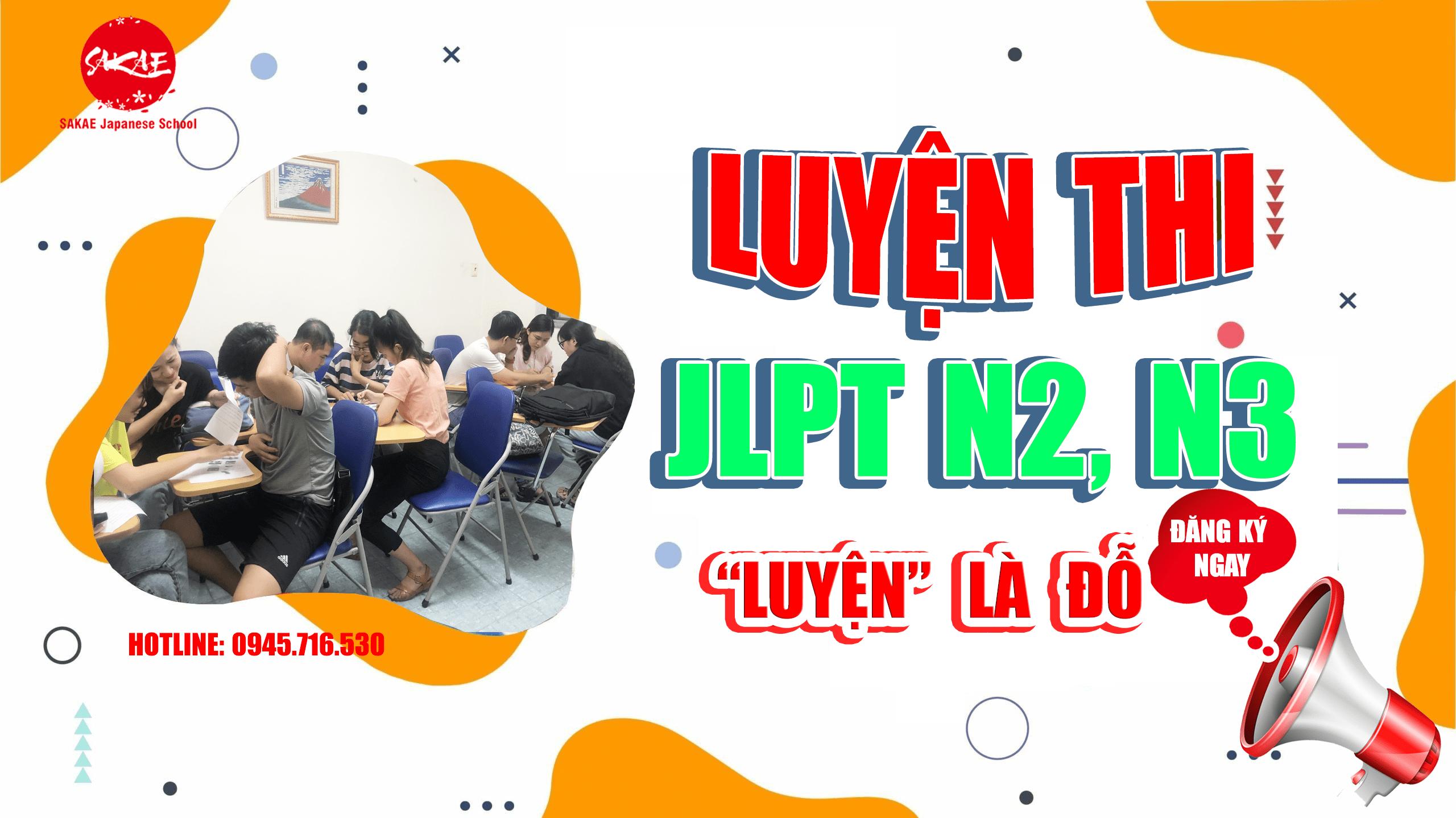 Khóa luyện thi tiếng Nhật JLPT N2 tại Thủ Đức, Dĩ An, quận 9