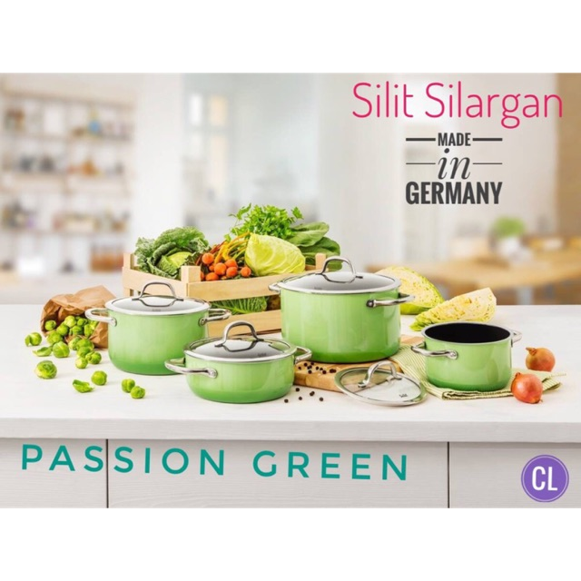 BỘ NỒI SILIT PASSION GREEN 4 CHIẾC