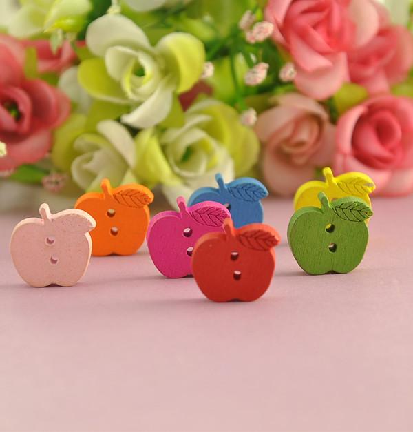 Túi cúc gỗ trái táo (14 cúc)_CH13