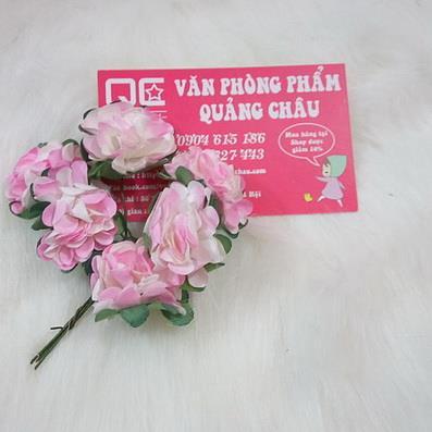Cành hoa giấy 6 bông_HM17