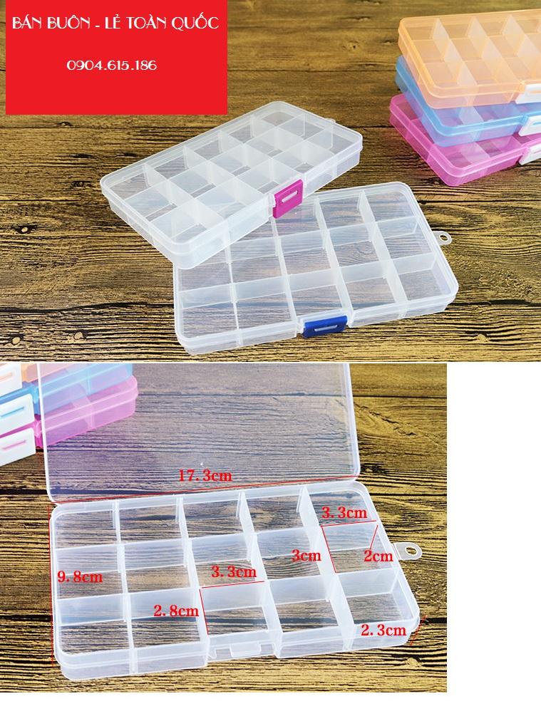 Hộp nhựa đa năng 15 ngăn nhỏ_CB21