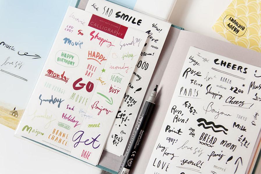 Sticker chữ viết tay (bộ 08 tờ)_S03