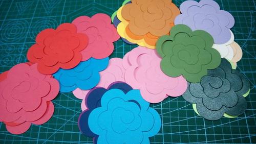 Set 25 bông hoa hồng giấy  handmade_QC19