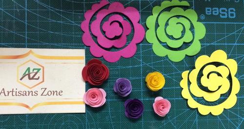Nguyên liệu làm hoa hồng cuốn 6cm (50 bông)_QC29