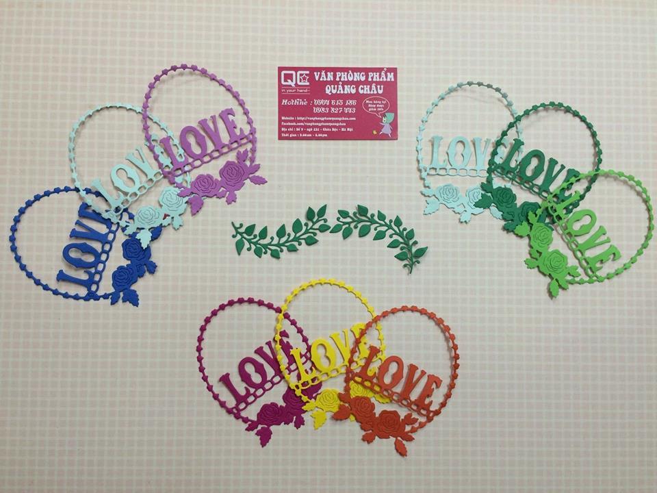 Túi 5 họa tiết vòng Love 11cm_HTT60