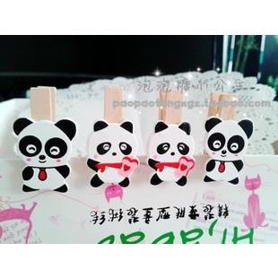 Vỉ kẹp gấu panda 4_G02.34