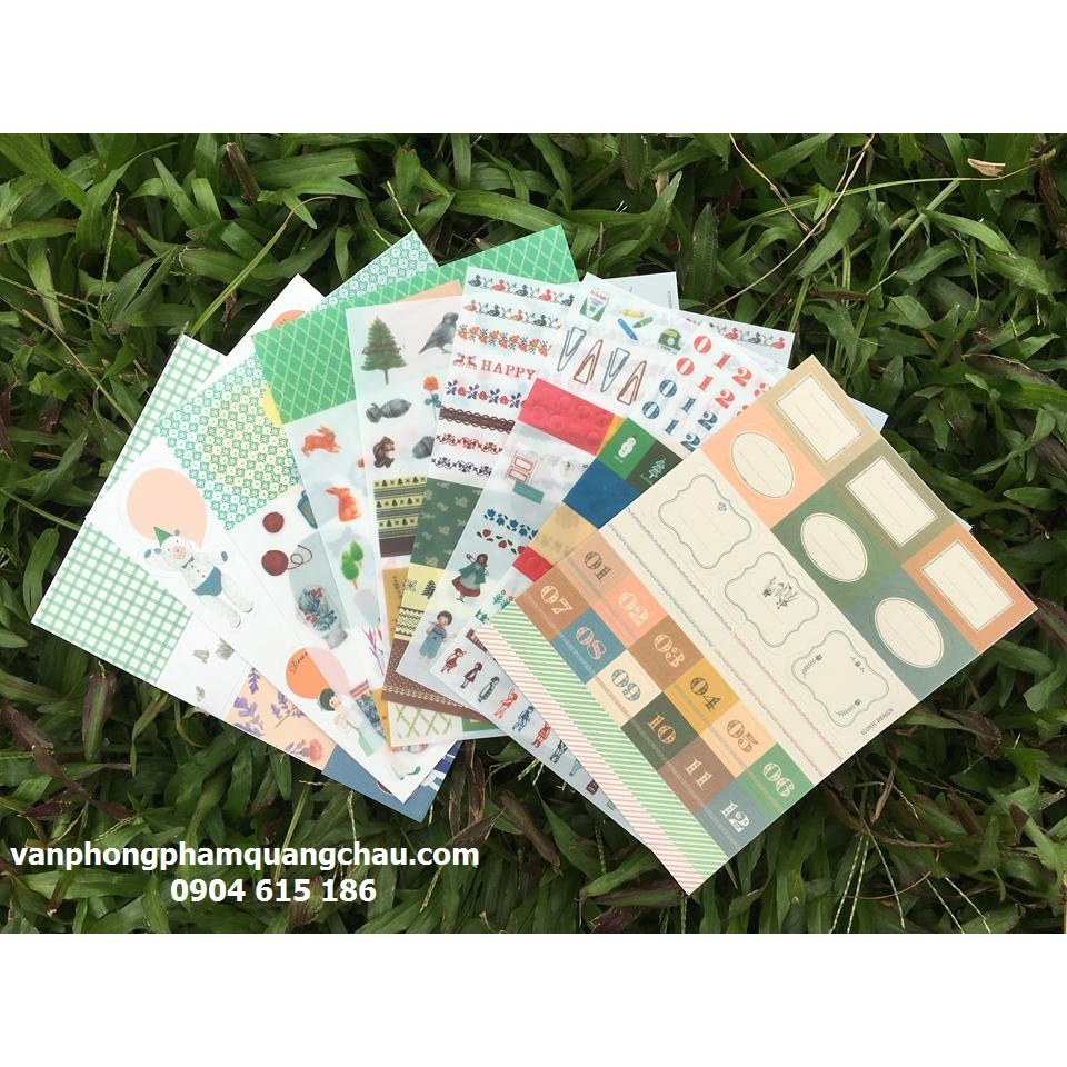 BỘ STICKER 9 TỜ DIARY DECO PACK_S183