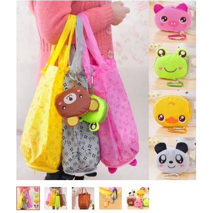 Túi mua sắm gập đa năng hình thú _HB128
