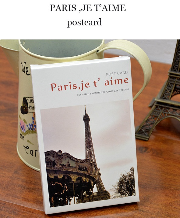 Bộ thiệp Post Card Pari 30 tấm_PC12