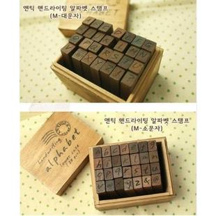 Dấu gỗ in mực Alphabet Koreo- CD07