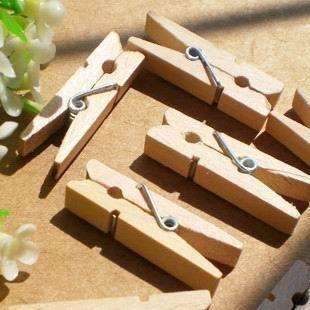 Kẹp gỗ trơn 10 chiếc (3.5x0.7cm)_G02.36