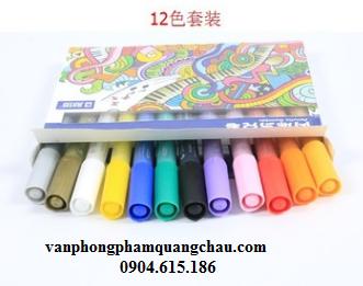 Bút màu Acrylic, nét 2mm - (Bộ 12 chiếc)_ B11