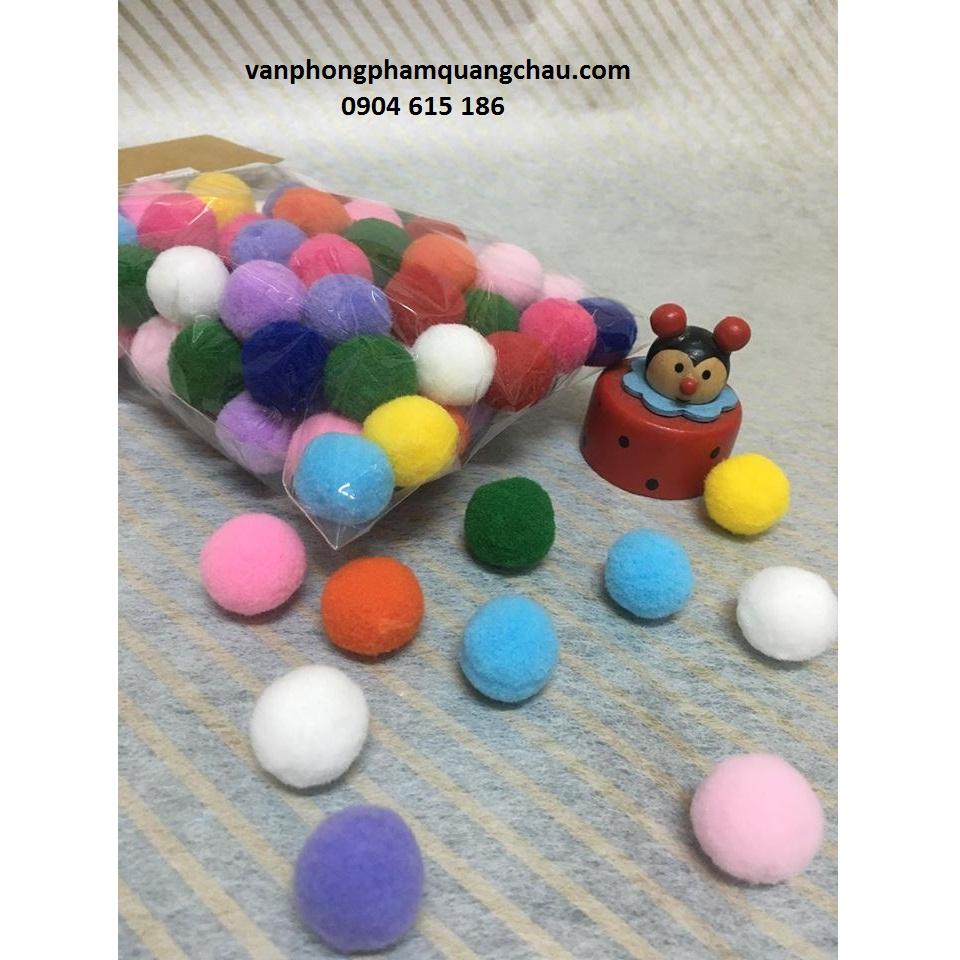 Túi bông xù sắc màu tròn_PKM62