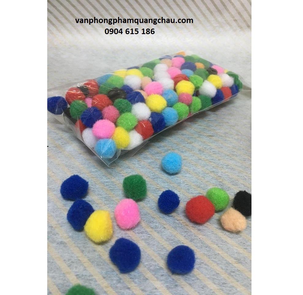 Bông xù sắc màu tròn size nhỏ_PKM62.1