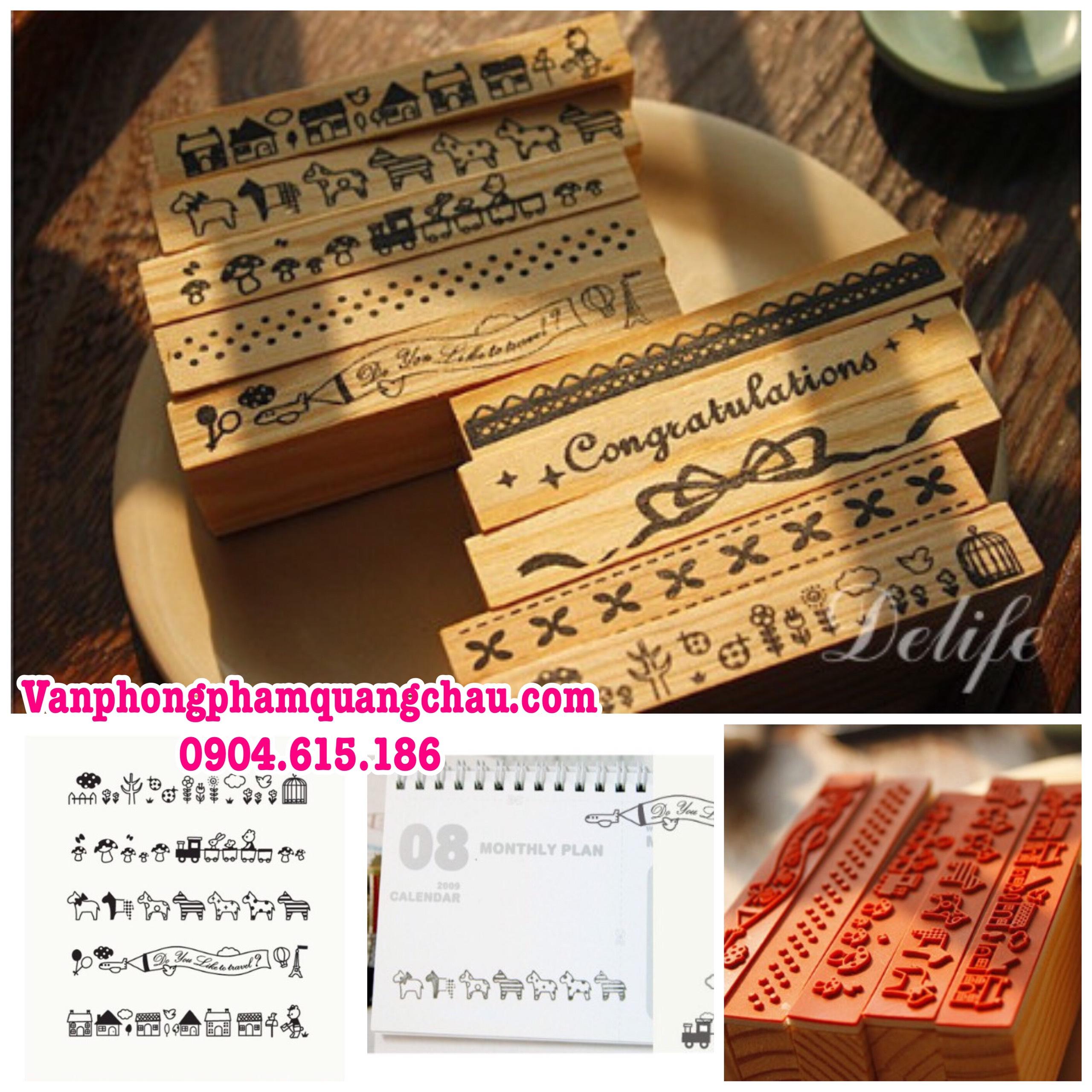 Con dấu gỗ trang trí viền Koreo_CD40