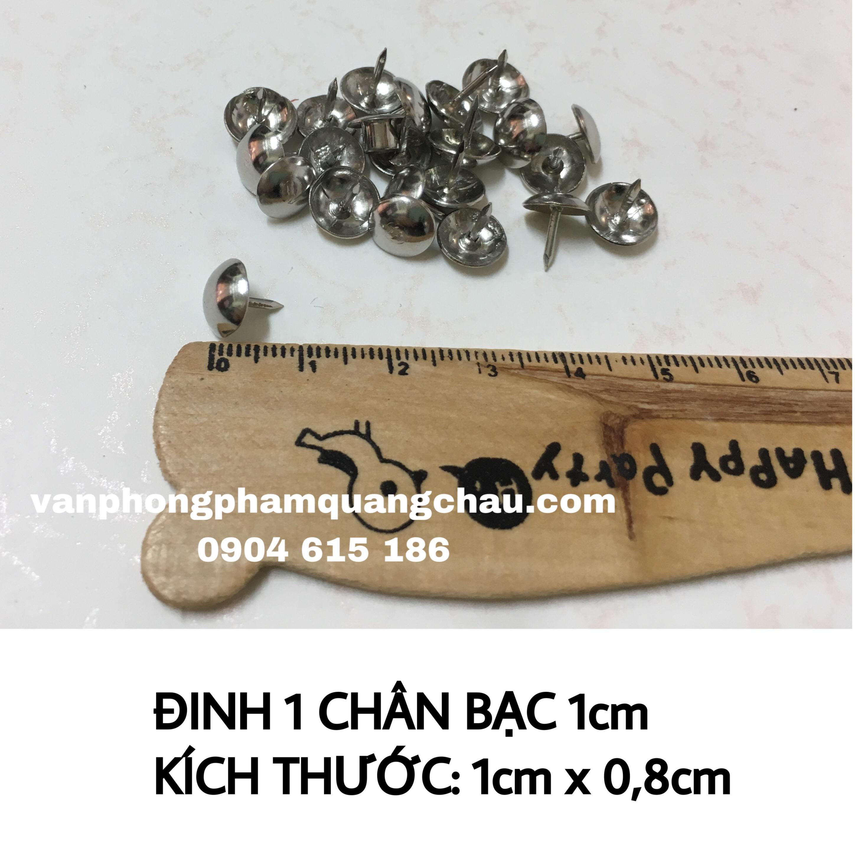 Đinh ghịm nhọn màu bạc 1cm (10 chiếc)_PKM100