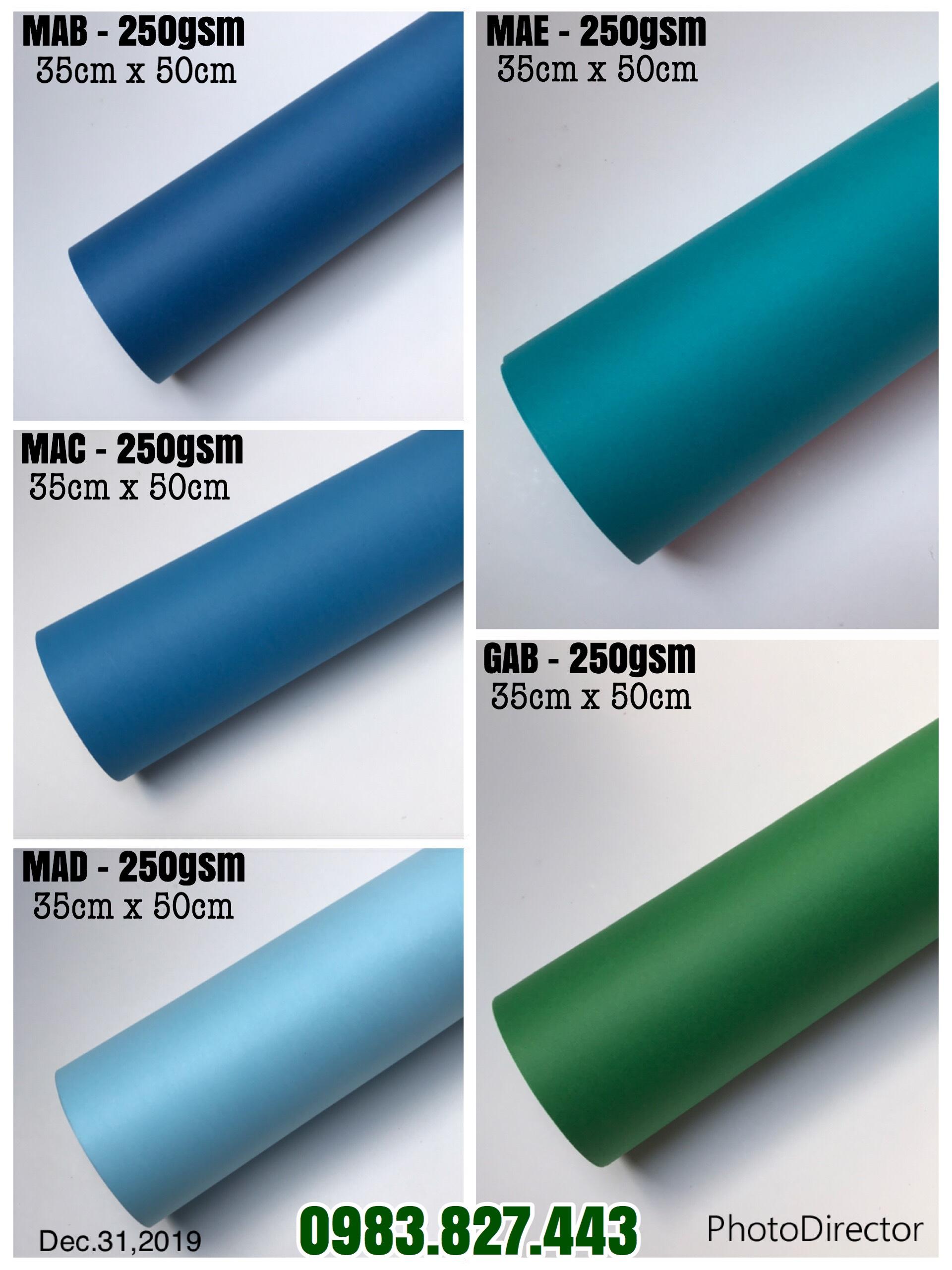 Giấy mỹ thuật (định lượng 250gsm - 300gsm) - Kích thước 35cm x 50cm - Set 05 tờ_GHM119