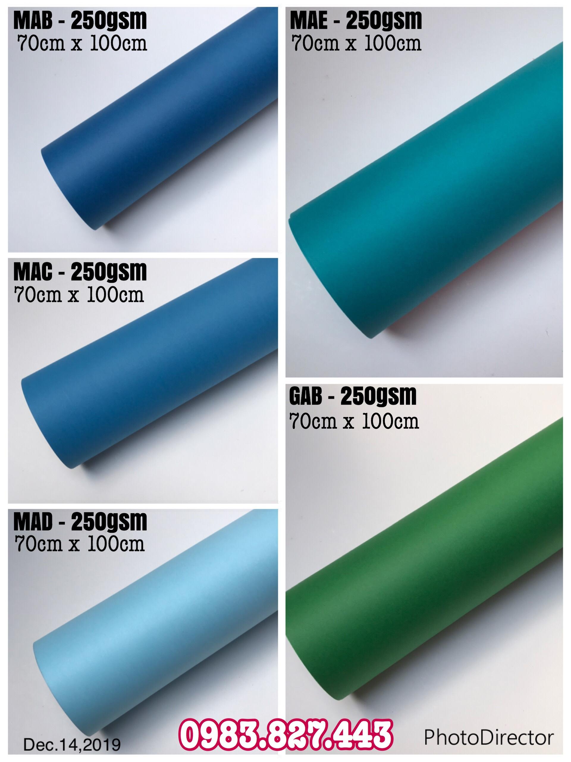 Giấy mỹ thuật định lượng 250gsm - 300gsm (KT: 70cm x 100cm or 79cm x 109cm) - Set 04 tờ_GHM06