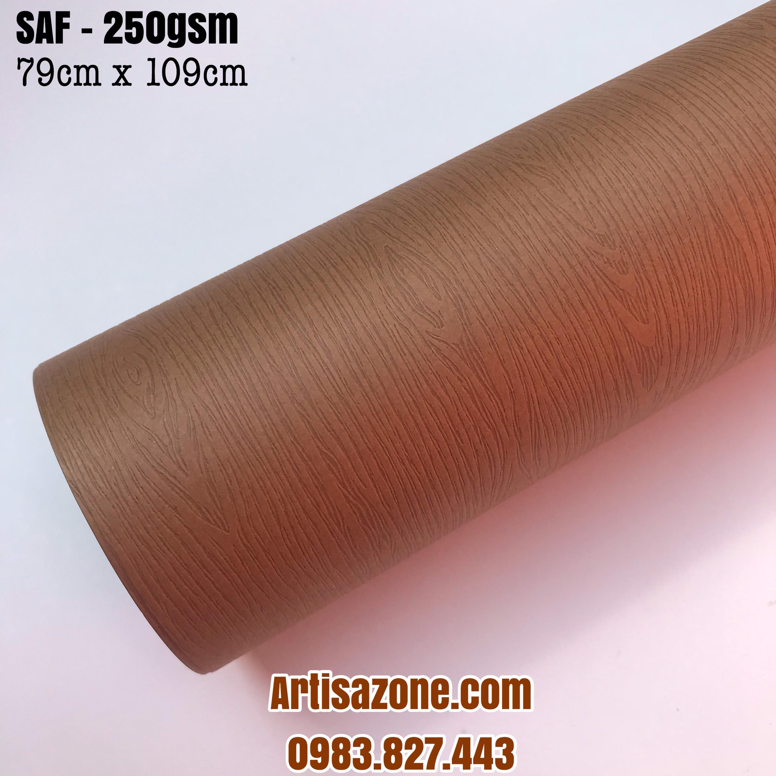 Giấy mỹ thuật vân gỗ, kích thước 79cm x 109cm (định lượng 250GSM) - Set 04 tờ_ GHM53