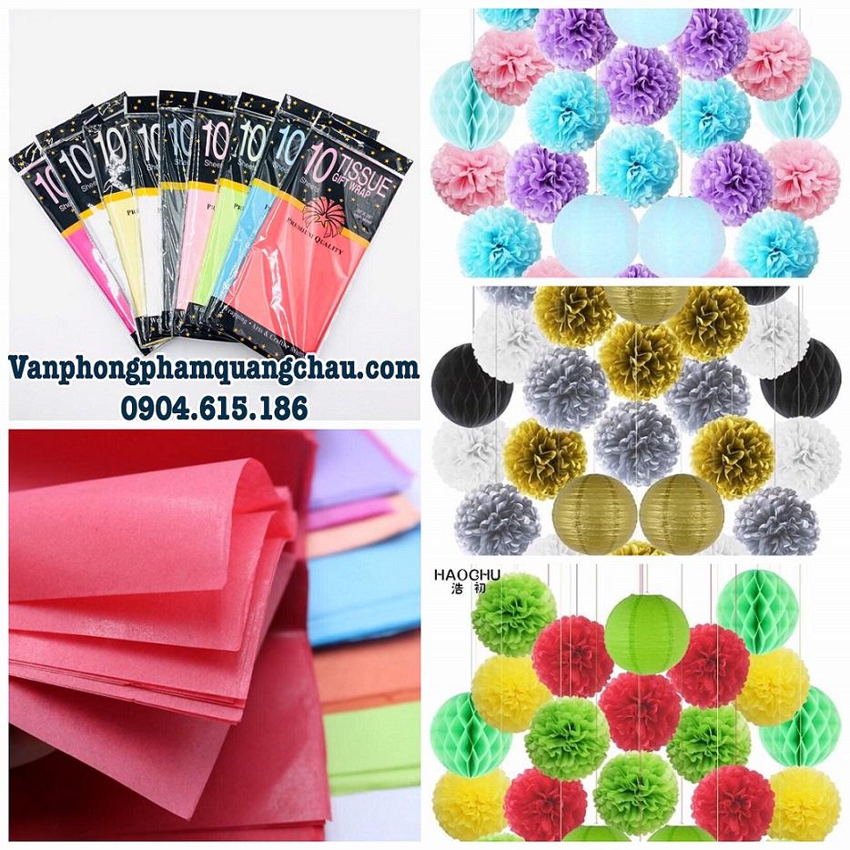 Giấy làm hoa Pompom - Tissue Paper_GHM58