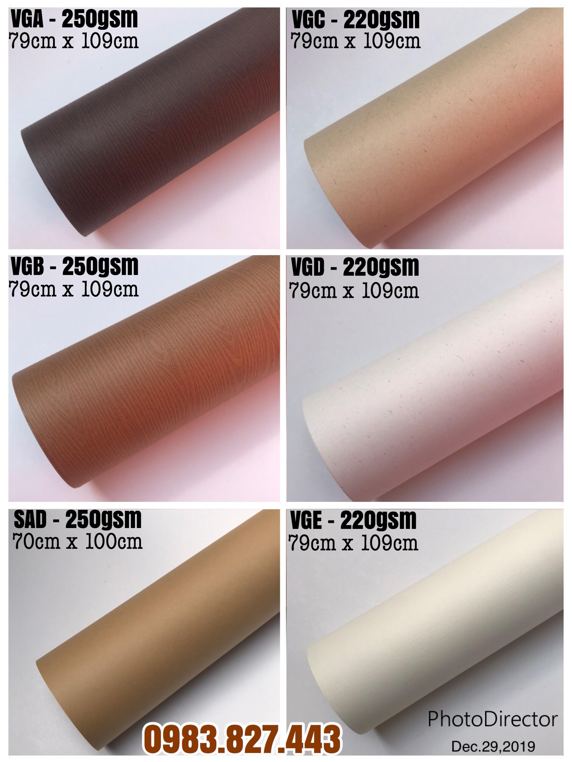 Giấy mỹ thuật tông màu Vintage (định lượng 220gsm-250gsm) - Kích thước 70cm x 100cm or 79cm x 109cm - Set 06 tờ_GHM07
