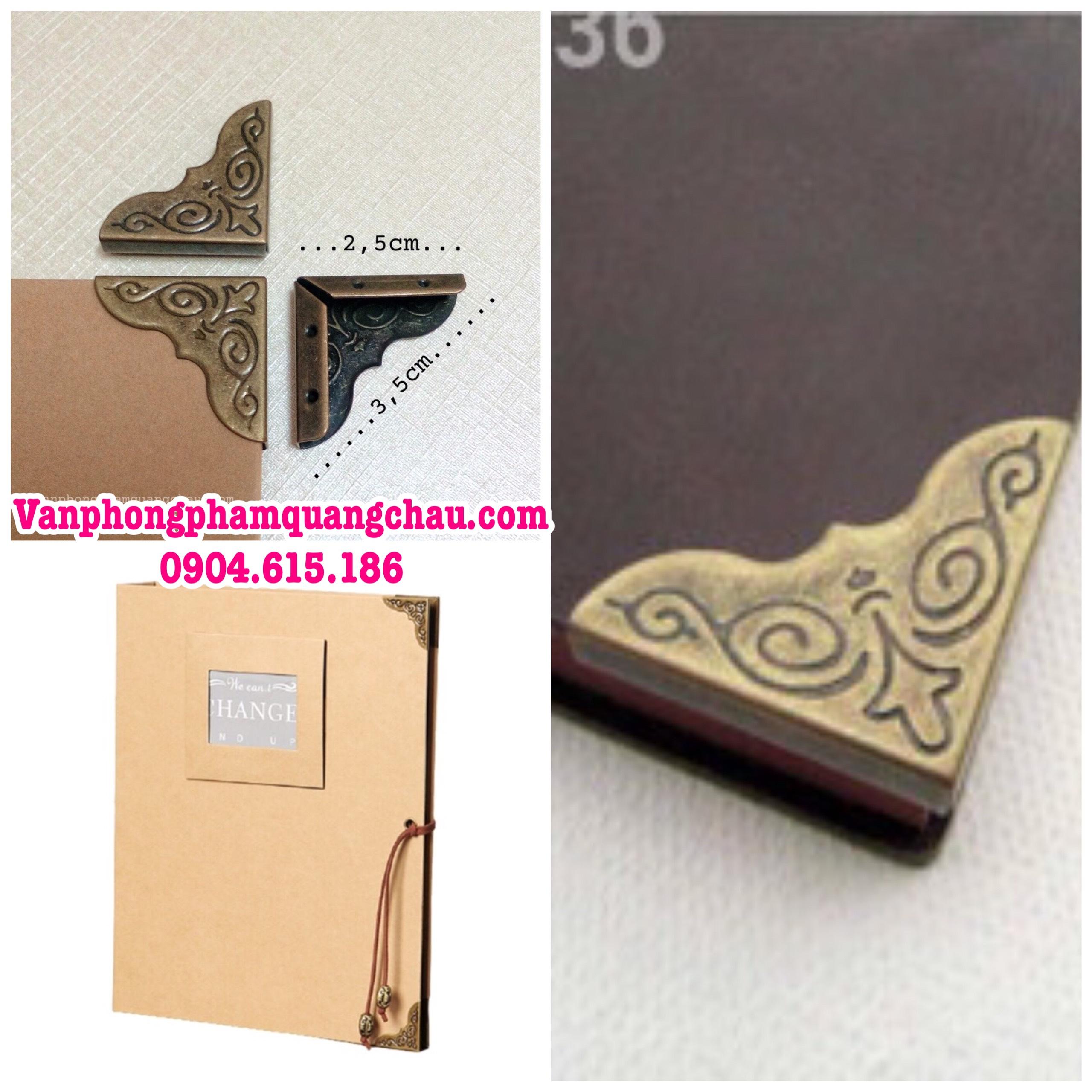 Bo góc họa tiết màu đồng cỡ đại (10 chiếc)_ PKM50