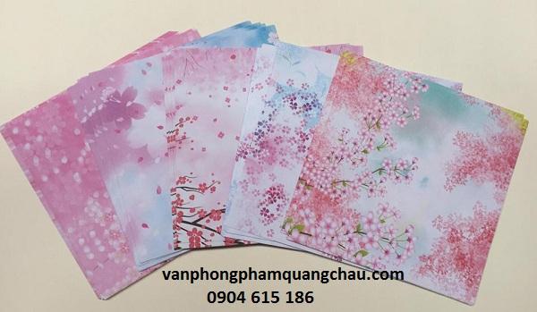 Giấy origami họa tiết hoa 02 mặt khác nhau_ORI06