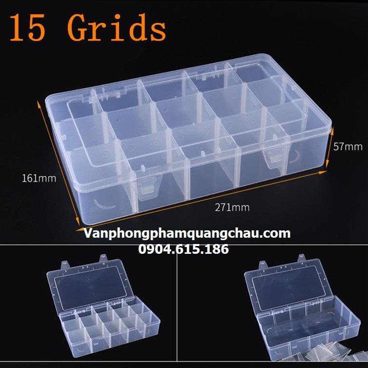 Hộp nhựa 15 ngăn lớn_CB51