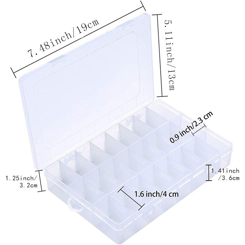 Hộp nhựa đa năng 24 ngăn nhỏ - (01 chiếc)_CB58