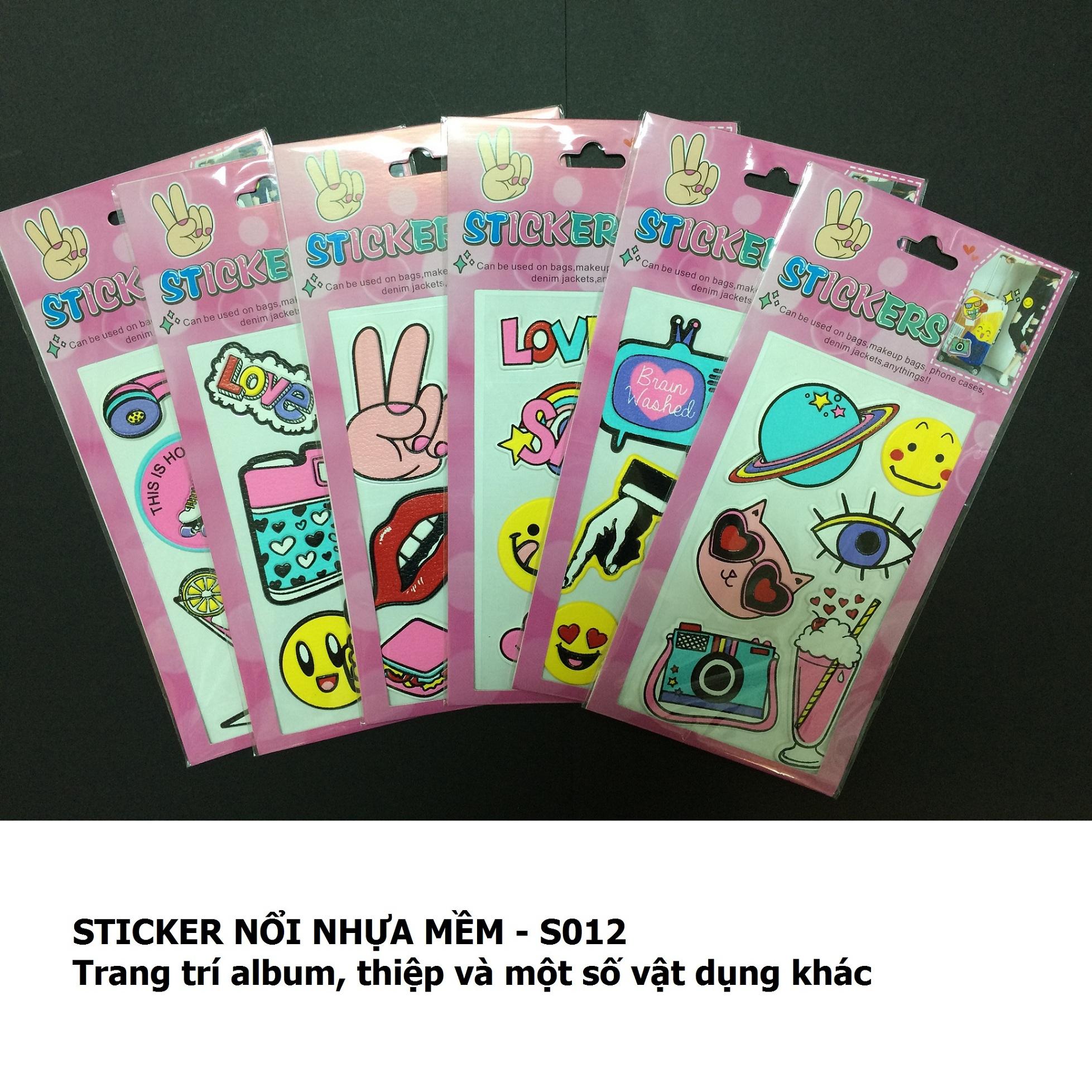 Sticker nổi nhựa mềm_S012