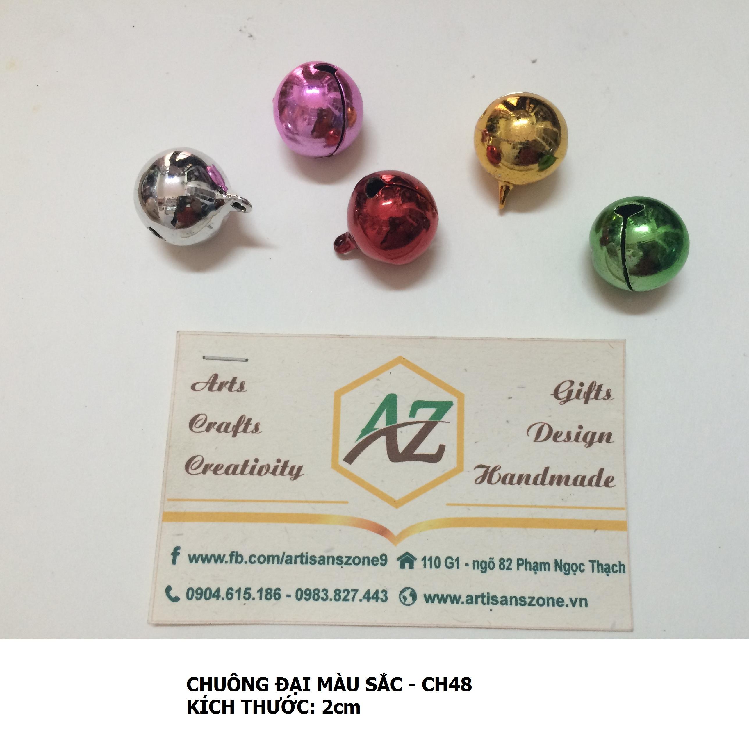 Chuông đại nhiều màu 05 chiếc (1,8cm)_CH48