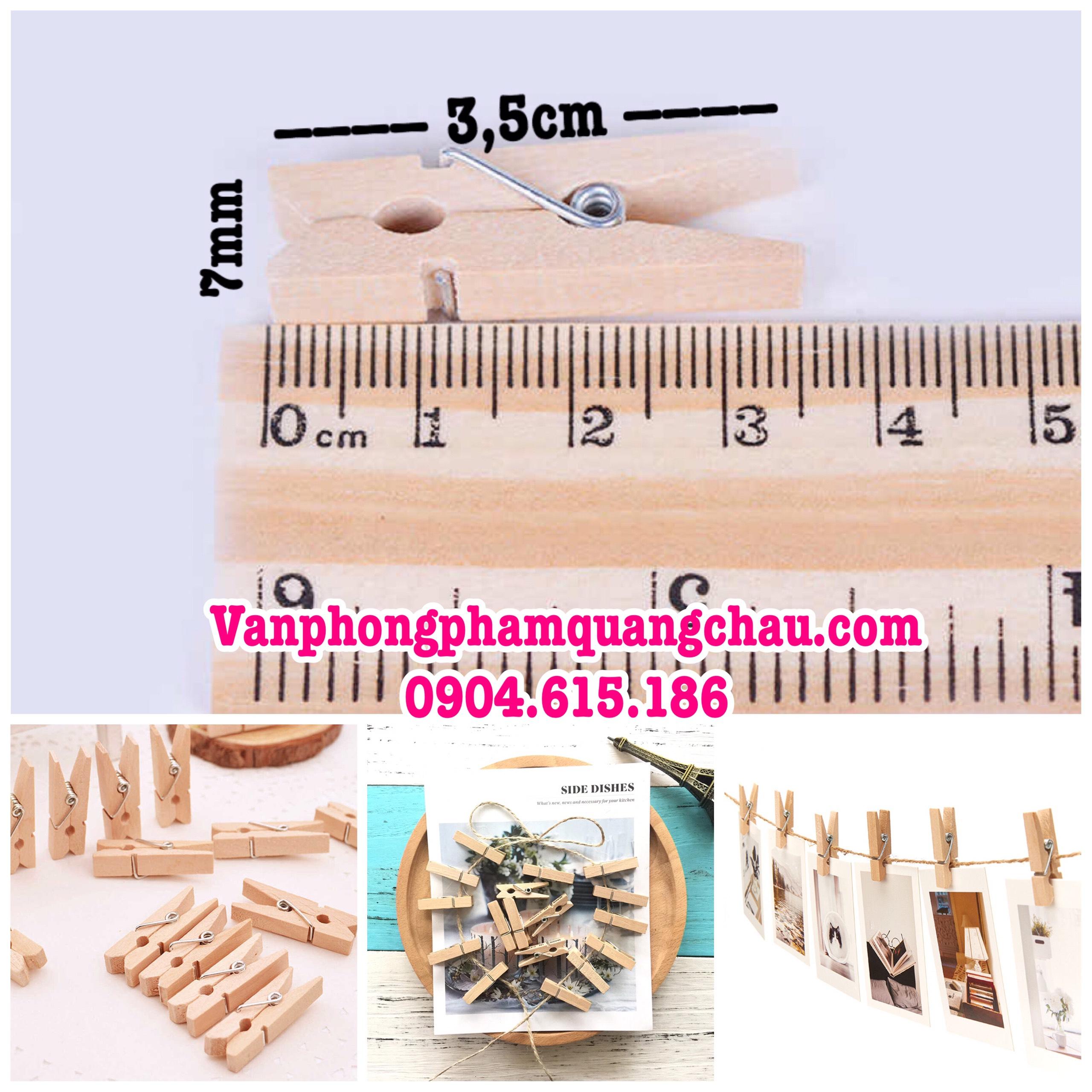Kẹp gỗ trơn 10 chiếc (3.5cm x 7mm)_G02.36