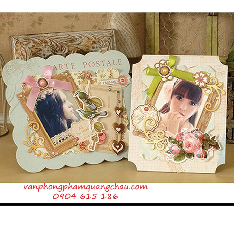 Kit khung ảnh để bàn handmade (21cm x 19.5cm)_KIT08