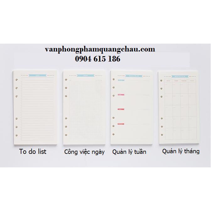 GIẤY A5 REFILL MÀU CHO PLANNER_PKM199