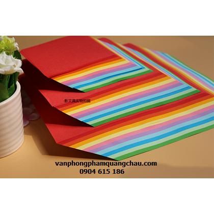 Giấy Origami 2 mặt 1 màu - 100 tờ (size 20cmx20cm)_ORI09