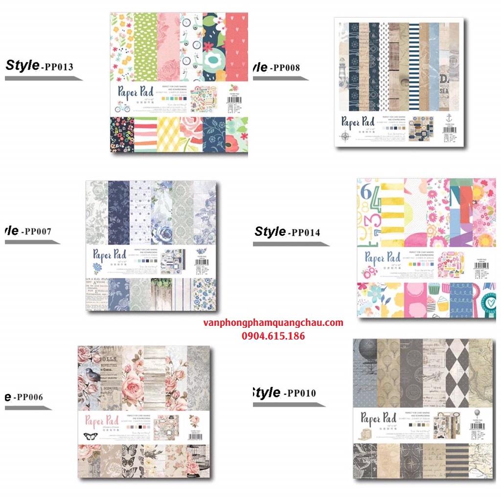 Giấy quyển trang trí Scrapbook, album, thiệp - Paper pad (25cm x 25cm) _ GHM121