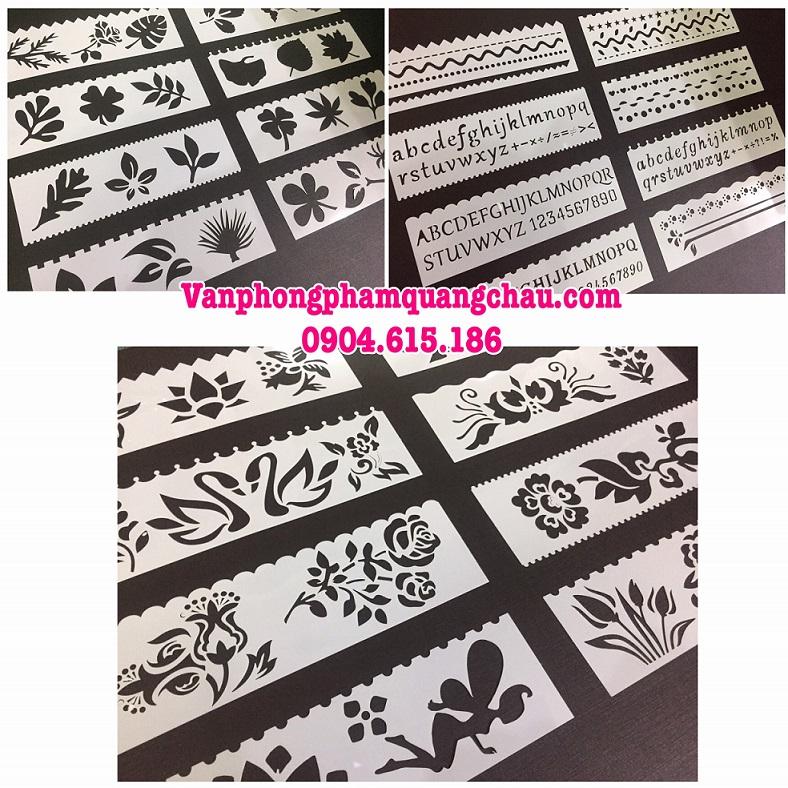 Pet Stencil - Khuôn hình trang trí, tạo viền (Bộ 08 chiếc)_CD10.2
