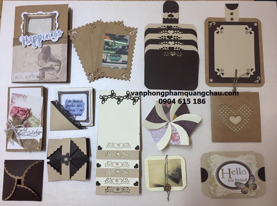 Bộ 13 hiệu ứng Scrapbook tông màu nâu Kraft_SB56