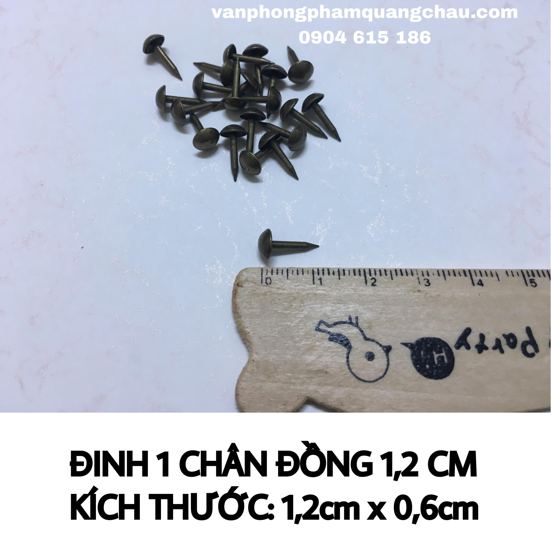 BỘ 10 ĐINH 1 CHÂN ĐỒNG 1,2CM_PKM99